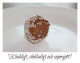 Chokladbollar - den nyttigare varianten