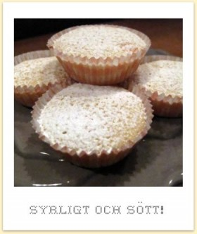 Citronmuffins med vit choklad