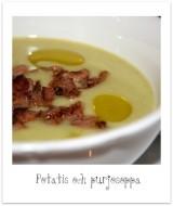 Krämig potatis- och purjolökssoppa