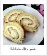 Rulltårta med krämig citronfyllning.