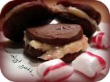 Spröda chokladkakor med polkatryffel